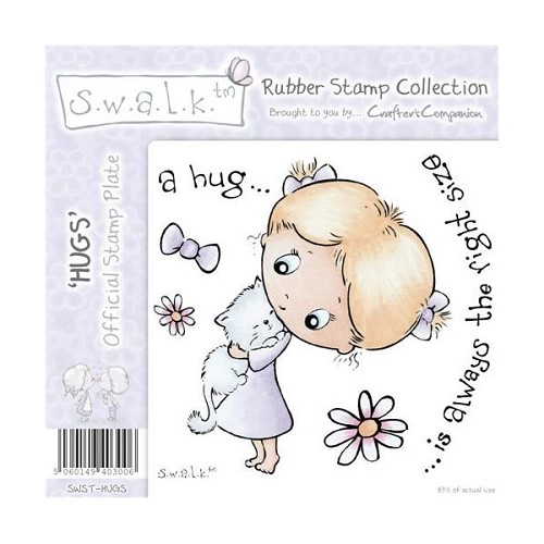 S.w.a.l.k. Unmounted Rubber Stamp - Hugs. by Crafter`s Companion