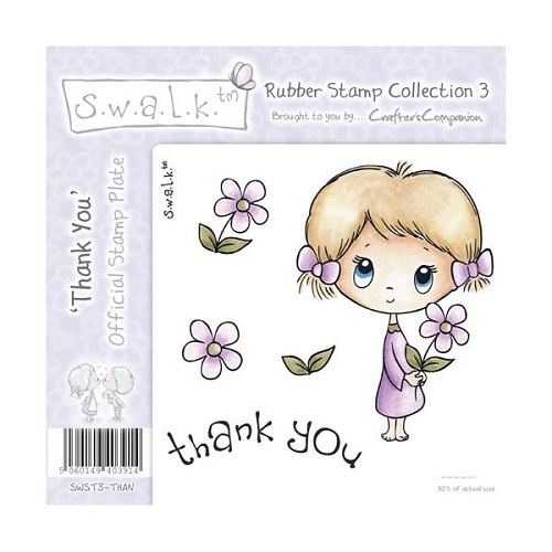 S.w.a.l.k. Unmounted Rubber Stamp - Thank You. by Crafter`s Comp