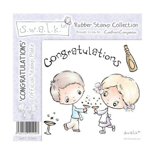 S.w.a.l.k. Unmounted Rubber Stamp - Congratualtions. by Crafter`
