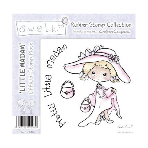 S.w.a.l.k. Unmounted Rubber Stamp - Little Madam. by Crafter`s C