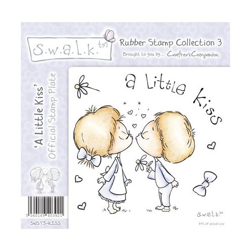 S.w.a.l.k. Unmounted Rubber Stamp - A Little Kiss. by Crafter`s
