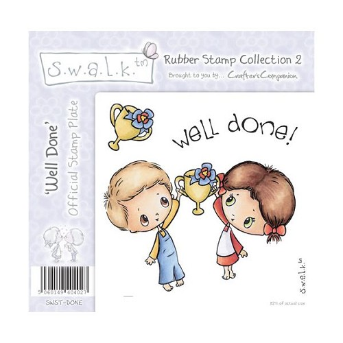 S.w.a.l.k. Unmounted Rubber Stamp - Well Done. by Crafter`s Comp