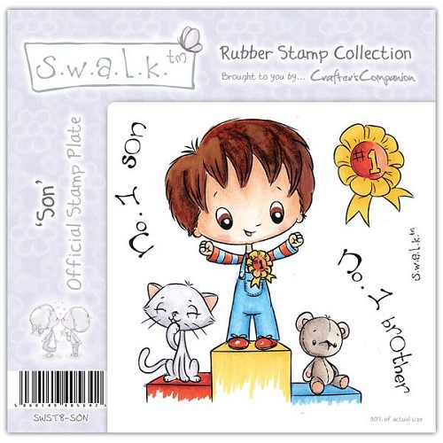 S.w.a.l.k. Unmounted Rubber Stamp - Son by Crafter`s Companion
