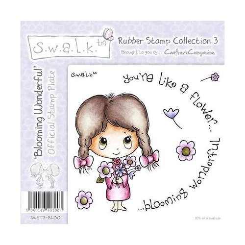 S.w.a.l.k. Unmounted Rubber Stamp - Blooming Wonderful. by Craft