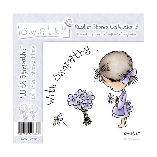 S.w.a.l.k. Unmounted Rubber Stamp - With Sympathy. by Crafter`s