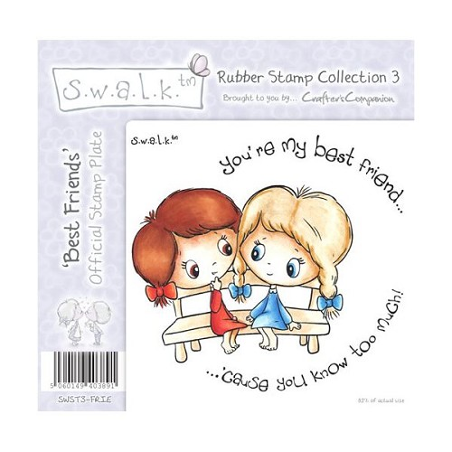 S.w.a.l.k. Unmounted Rubber Stamp - Best Friends. by Crafter`s C