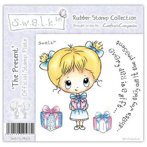 S.w.a.l.k. Unmounted Rubber Stamp - The Present.