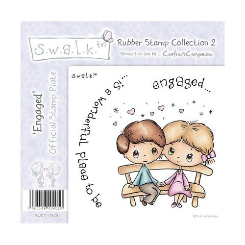 S.w.a.l.k. Unmounted Rubber Stamp - Engaged. by Crafter`s Compan