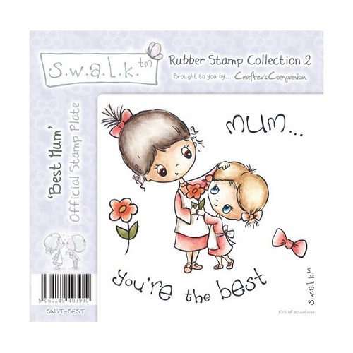 S.w.a.l.k. Unmounted Rubber Stamp - Best Mum. by Crafter`s Compa
