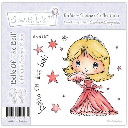S.w.a.l.k. Unmounted Rubber Stamp - Belle of the Ball by Crafter