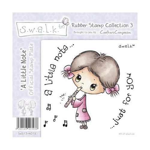 S.w.a.l.k. Unmounted Rubber Stamp - A Little Note. by Crafter`s