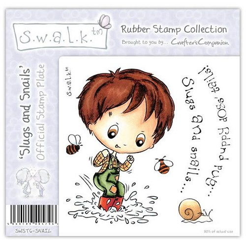 S.w.a.l.k. Unmounted Rubber Stamp - Slugs and Snails. by Crafter