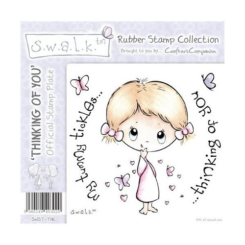S.w.a.l.k. Unmounted Rubber Stamp - Thinking of You. by Crafter`