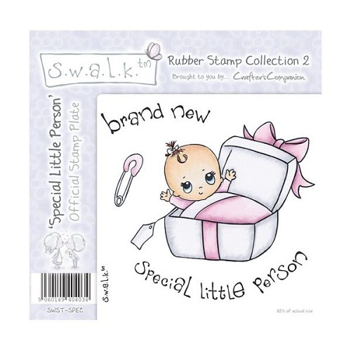 S.w.a.l.k. Unmounted Rubber Stamp - Special Little Person. by Cr