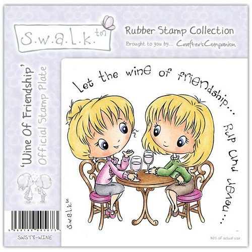 S.w.a.l.k. Unmounted Rubber Stamp - Wine of Friendship by Crafte