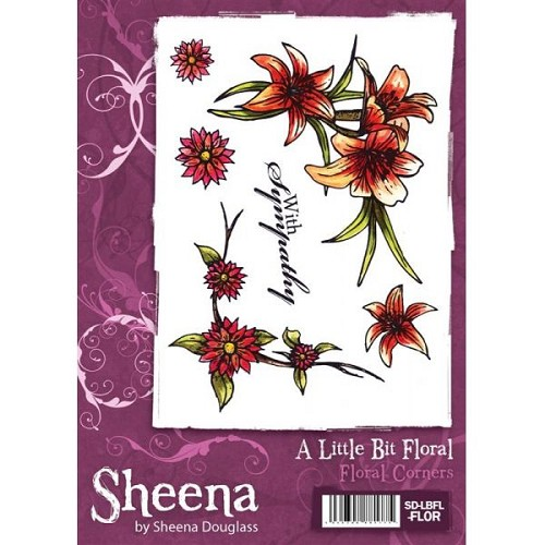 Sheena Douglass A Little Bit Floral Stamp Set - Floral Corners