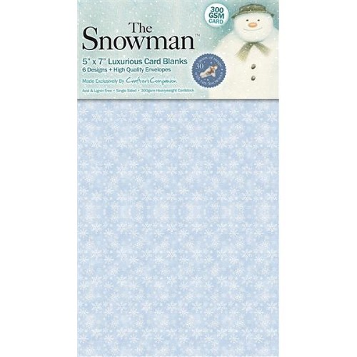 The Snowman 5in x 7in Patterned Card Blanks (6 designs)
