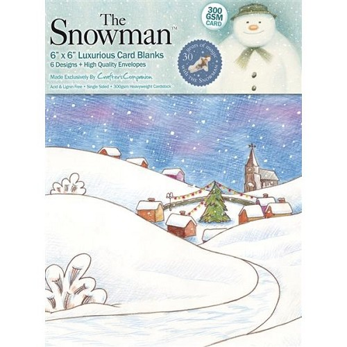 The Snowman 5in x 7in Scene Card Blanks (6 designs)
