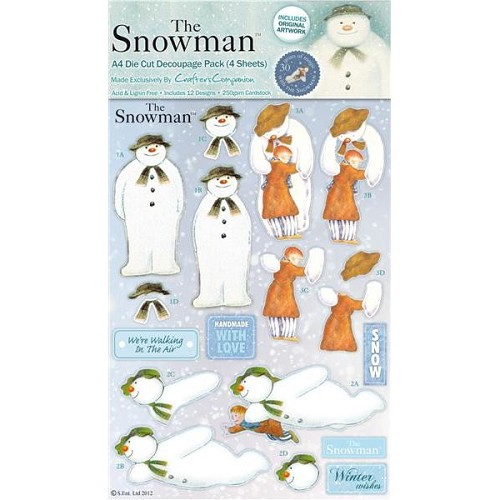 The Snowman A4 Decoupage (4pc)