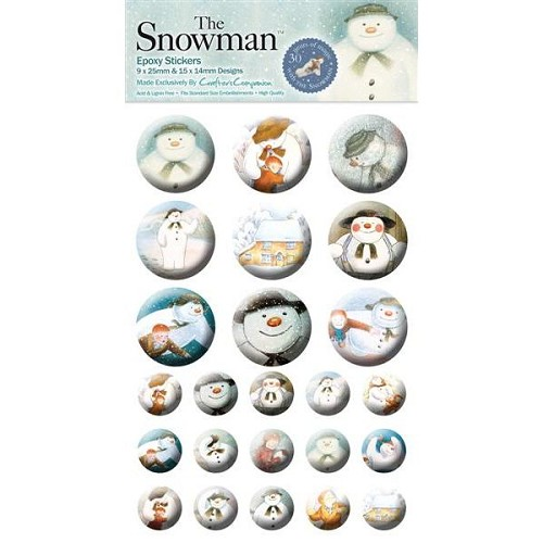 The Snowman Epoxy Stickers