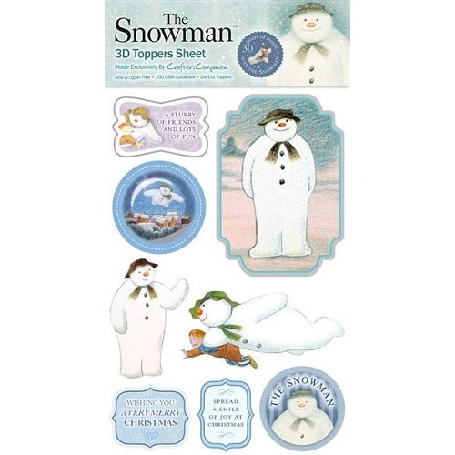 The Snowman 3D Toppers Sheet 1