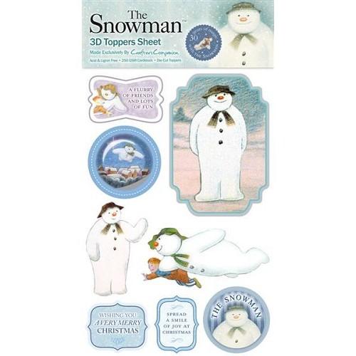 The Snowman 3D Toppers Sheet 1