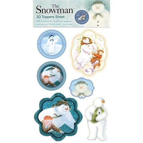 The Snowman 3D Toppers Sheet 2