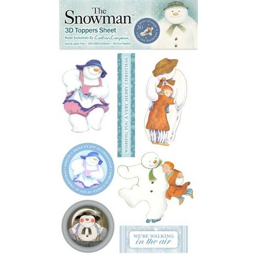 The Snowman 3D Toppers Sheet 3