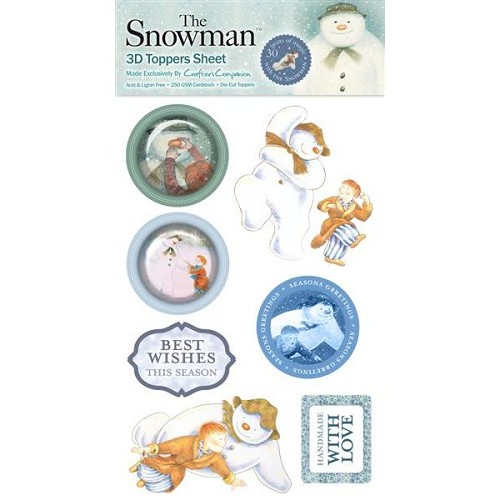 The Snowman 3D Toppers Sheet 4