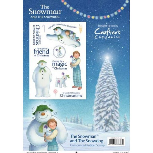 The Snowman and Snowdog A5 Rubber Stamp by Crafter`s Companion