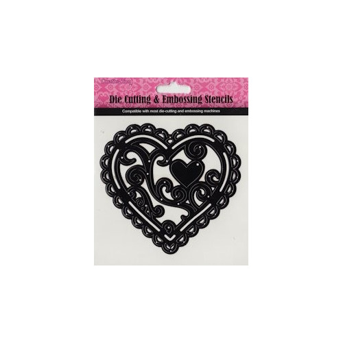 Die Cutting & Embossing stencil Hearts Delight
