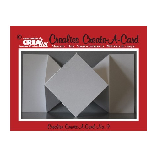 Crealies Create A Card no. 9 stans voor kaart CCAC09