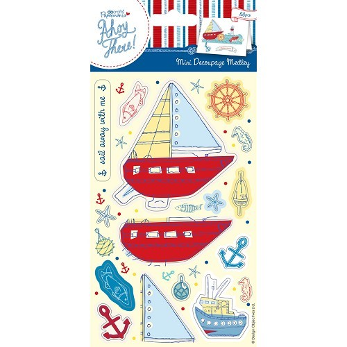 Mini Decoupage Medley (26pcs) - Ahoy There - Welcome Aboard
