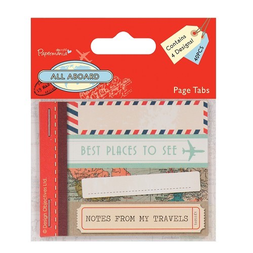 Page Tabs (40pcs) - All Aboard