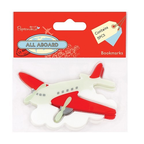 Bookmark (5pcs) - All Aboard - Airplane