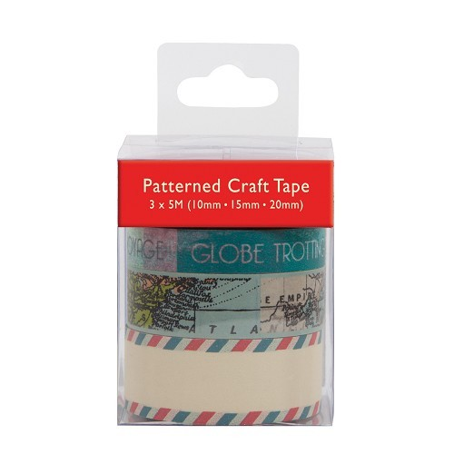 Patterned Craft Tape (3pcs) - All Aboard