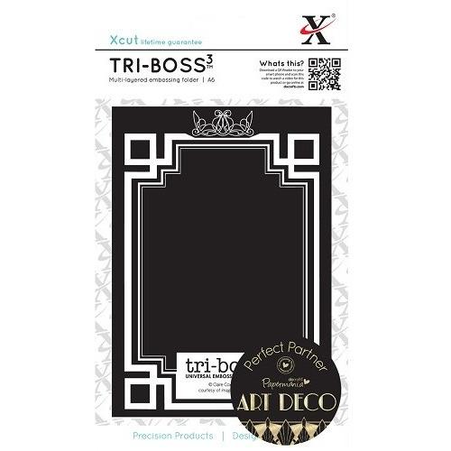 Tri-Boss Universal Emboss Folder (A6) - Art Deco (Frame)