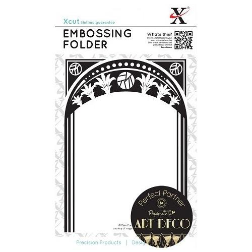 Emboss Universal Emboss Folder (A6) - Art Deco (Frame)