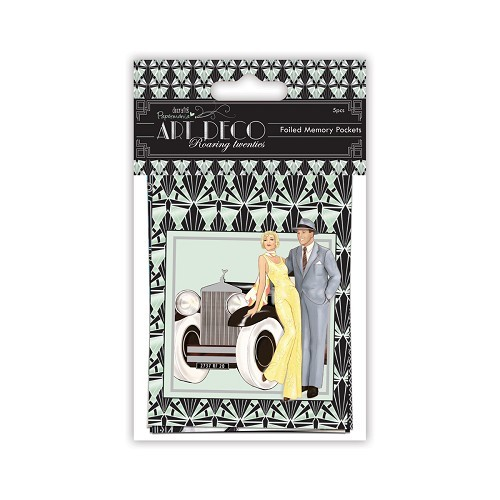 Memory Pockets Foiled (5pcs) - Art Deco