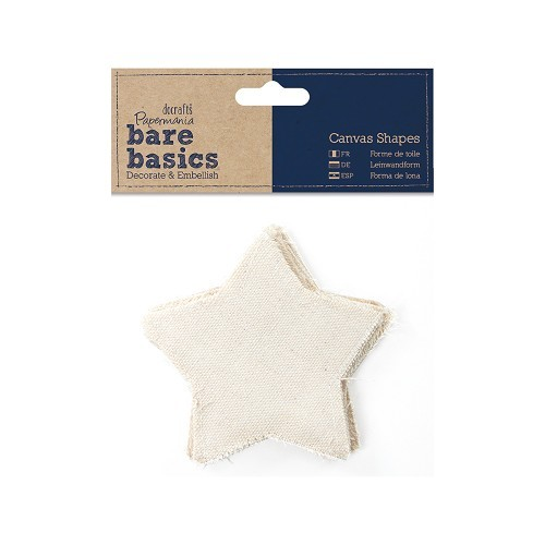 Canvas Shape (6pk) - Bare Basics - Star
