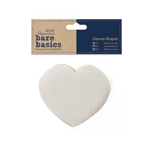 Canvas Shape (6pk) - Bare Basics - Heart