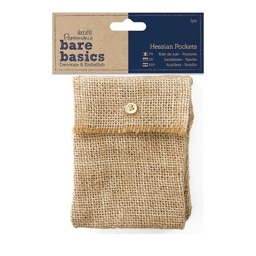 Hessian Pockets (3pk) - Bare Basics
