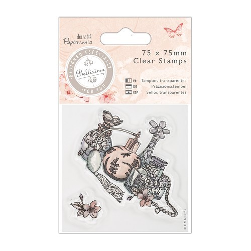 75 x 75mm Mini Clear Stamp - Bellisima - Perfume