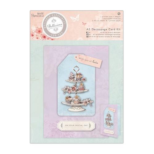 A5 Decoupage Card Kit - Bellisima - Cupcakes