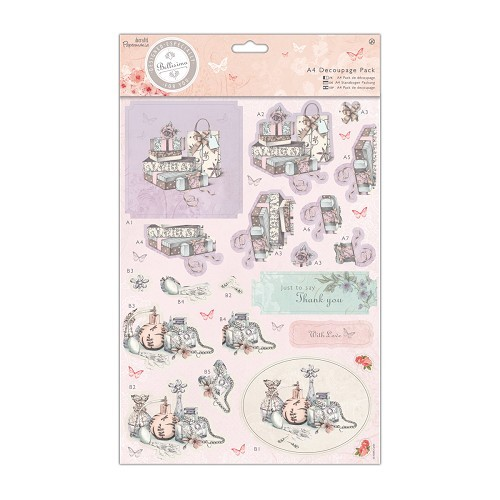 A4 Decoupage Pack - Bellisima - Presents