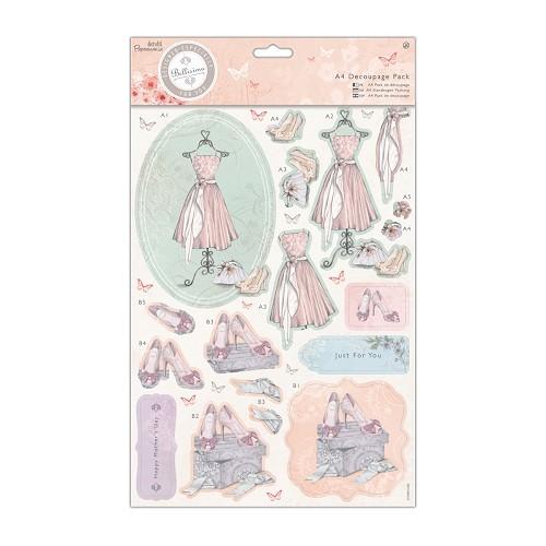 A4 Decoupage Pack - Bellisima - Dress