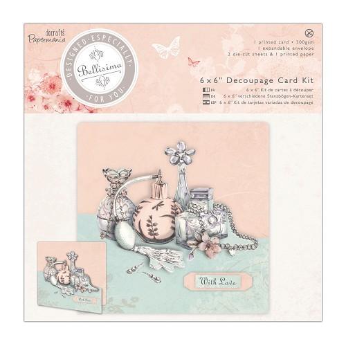 6 x 6'' Decoupage Card Kit - Bellisima