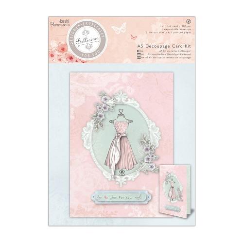 A5 Decoupage Card Kit - Bellisima - Dress