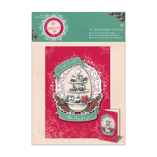 A5 Decoupage Card Kit - Bellissima Christmas