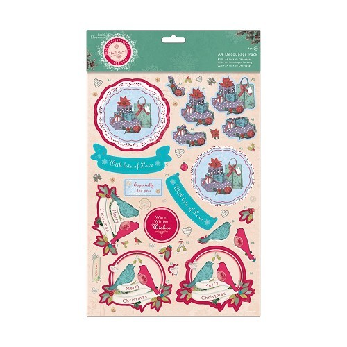A4 Decoupage Pack - Bellissima Christmas - Presents